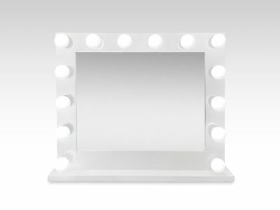 "Hollywood 32"" Lighted Vanity Mirror w/14 LED Bulbs  Cont Table Top Or Wall Mount"