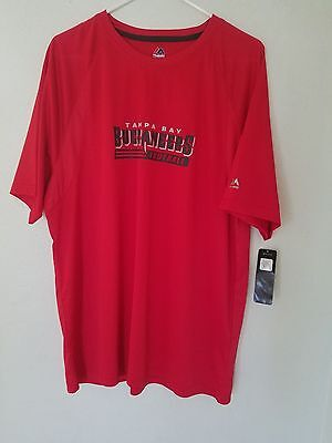 NEW NFL TEAM APPAREL Majestic TAMPA BAY BUCCANEERS Cool Base Dry Fit Shirt  Mens a420f31fb