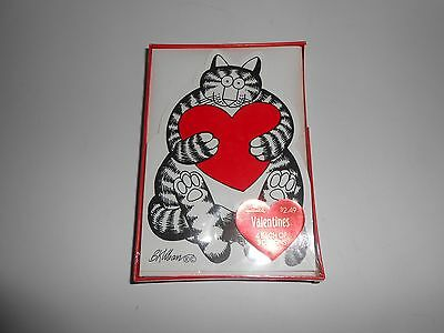 Vintage 1989 Sealed New Hallmark Kliban Cats Box of 12 Valentines Day Cards
