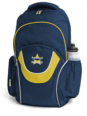 North Queensland Cowboys NRL Fusion Backpack School Gym Bag with 3 Compartments