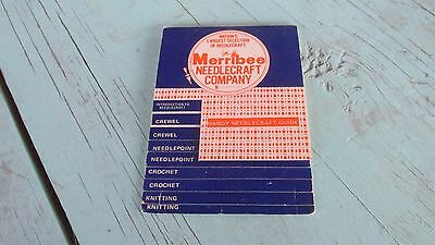 Vintage Merribee Needlecraft Company Handy Needlecraft Guide Crochet Knitting