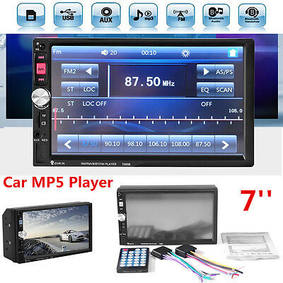 2Din 7'' Touch Screen HD Car Bluetooth Stereo FM Radio MP5 MP3 Player AUX USB TF