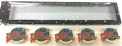 Planet Hollywood Collectors Pin Set~Hong Kong,Bangkok,Cape Town,Singapore,Sydney