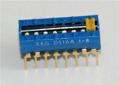 ERG DS16A 1-8 8 Way Slide DIL Switch