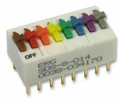 ERG SDS-8-014 8 Way SPST DIL Switch