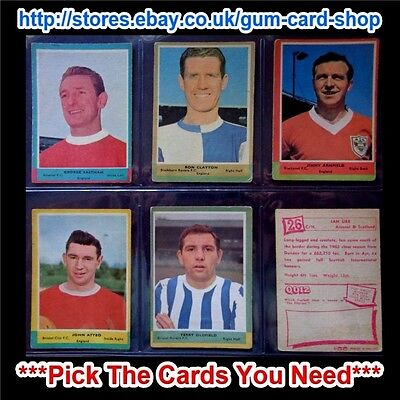 A&Bc 1964 Football Quiz (G/F) 1St & 2Nd Series *Pick The Cards You Need*