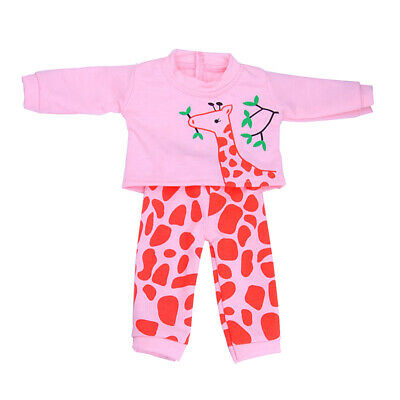 Giraffe Printed Top & Pants for 18'' American Girl Dolls Clothes Accessories