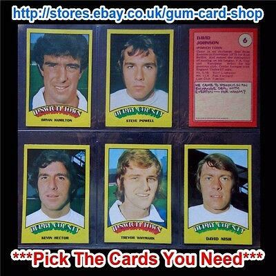 A&Bc 1974 Footballers Red Back (Good+) Cards 1 To 72 *Pick The Cards You Need*