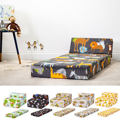Children's Chair Bed Fold Out Sleep Over Guest Single Futon Sofa Z Bed Seat Kids