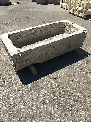 Reclaimed limestone granite Trough Japanese garden stone water basin fountain