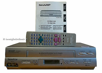 Sharp Vc-Gh611 Tested S-Vhs Hq Vcr Video Recorder Player Showview Pal