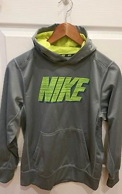 NIKE HOODIE Therma Fit Boys GREY Size Large --mINT!!--
