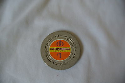 International Las Vegas, Nevada 1st Issue $1 Casino Gaming Chip Estate find READ