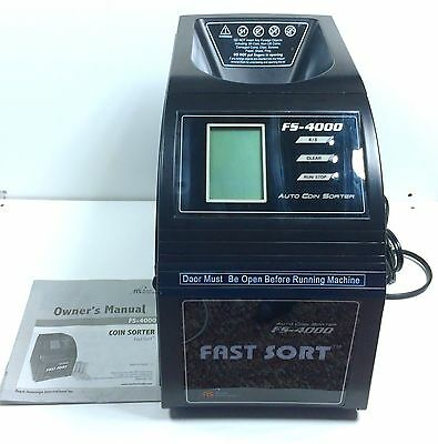 Royal Sovereign Auto Coin Sorter FS-4000 Fast Sort W/ Manual
