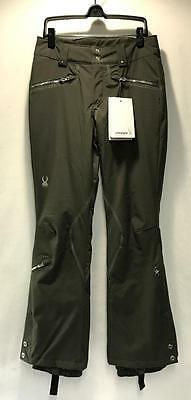 Spyder Women's Me Snow Ski Winter Pants Color Oyster Silver Size Ladies 14 NEW