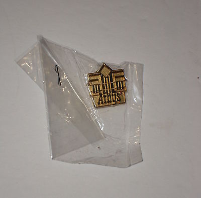 Vintage Collectible Arby's Tack Back Pin Brass Arby's Building