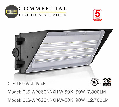 60W LED Wall Pack Light 7,875 Lumens 250 Watt replacement Commercial Grade