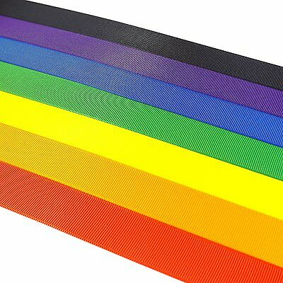Premium Grosgrain Ribbon By The Metre Widths 3mm-25mm 35 Colours Polyester Trim