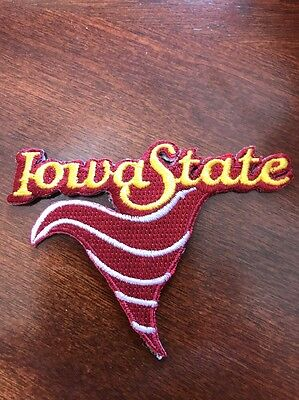 """ISU Iowa State Cyclones Football Vintage Embroidered Iron On Patch 2.5"""" x 3"""""""