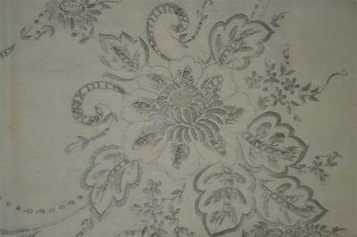 BEAUTIFUL vintage Linen cutwork embroidered banquet MADEIRA TABLECLOTH + Napkins