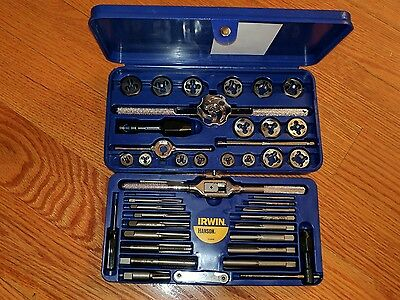 NEW Irwin Hanson 24606 41 Piece Tap and Hex Die Super Set