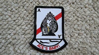 "Ace's Baby Naval Aviation F-14 Patch 3.25X2.5"" Military"