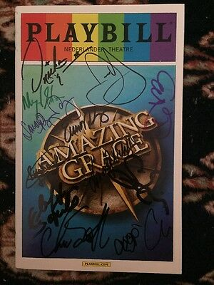Erin Mackey,Josh Young,Chuck Cooper And Cast Signed Amazing Grace Pride Playbill
