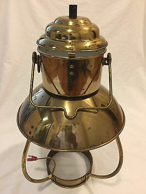 "Vintage Brass Lighthouse Lamp Ship Lamp Maritime -Nautical Decor Boat 17"" Tall"
