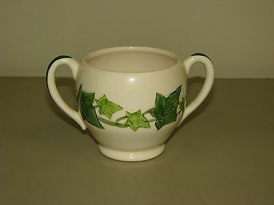 Vintage Franciscan Earthenware Ivy green leaves Sugar Bowl NO LID replacement