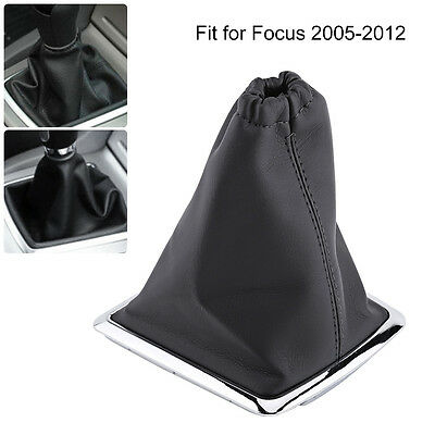 1X Car Vehicle Gear Shift Lever Stick Gaiter Boot Cover For 2005-2012 Ford Focus