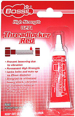 BOSSIL BS-8271 Red High Strength Thread Lock