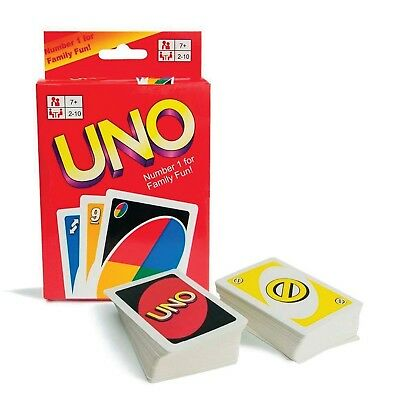 Traditional UNO CARD Pack Family Fun Playing Cards Educational Theme Board Game