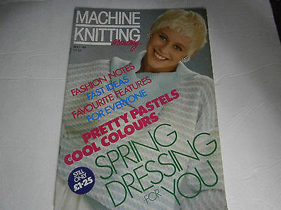 May 1989 Europe Machine Knitting Monthly Pattern Magazine Baby Scarf Hat Mittens