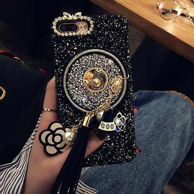Luxury Bling Glitter Diamond Crystal Back Case Cover For iPhone XS Max XR 8 Plus