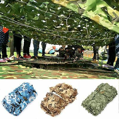 3M Camo Camouflage Woodland Leaves Army Hide Cover Net Camping Military Hunting