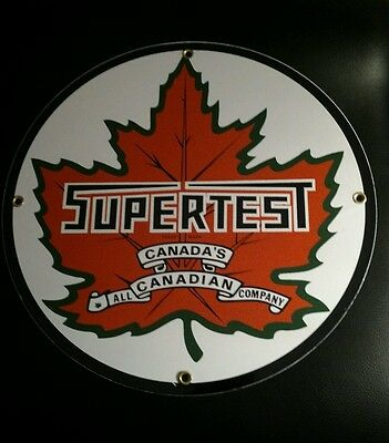 SUPERTEST Gas Oil Gasoline Porcelain Sign...~12""