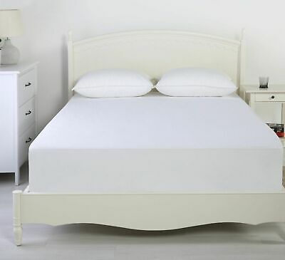 REVERSIBLE Waterproof Cotton Flannel Mattress Protector Cover Underlay Fitted