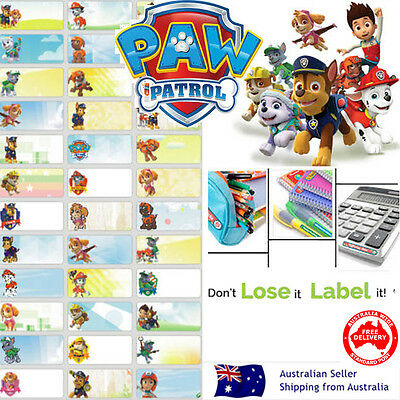 Paw Patrol kids Personalised Name Label preschool childcare water proof sticker
