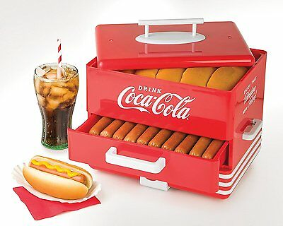 Nostalgia HDS248COKE Large Coca-Cola Hot Dog Steamer, New, Free Shipping
