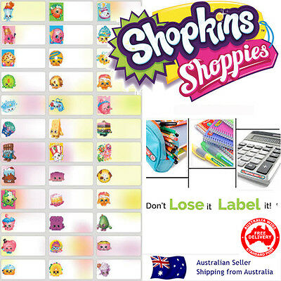 Shopkins Personalised Name Label preschool childcare water proof sticker