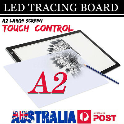 A2 Dimmable LED Art Stencil Tracing Drawing Board Lightbox Pad Touch Sensor AU