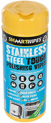 SMAART Wipes Stainless Steel Tough Polishing Wipes 40pk With Pen