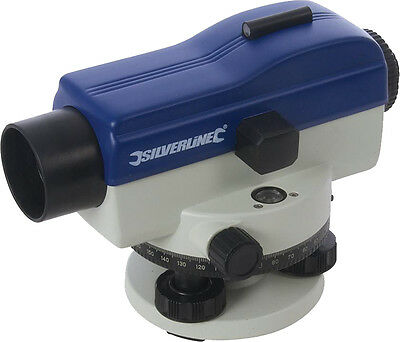 Silverline Building Automatic Optical Level 20x Magnification With Pen
