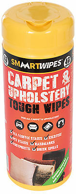 SMAART Wipes Carpet & Upholstery Tough Wipes 40pk With Pen