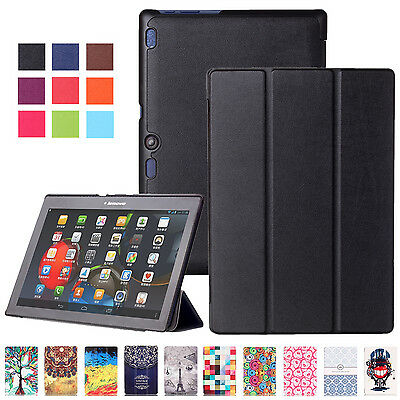 Pattern Magnetic PU Stand Case Cover For Lenovo Tab 2 A10-70/A7-30/Tab3 8 Tablet