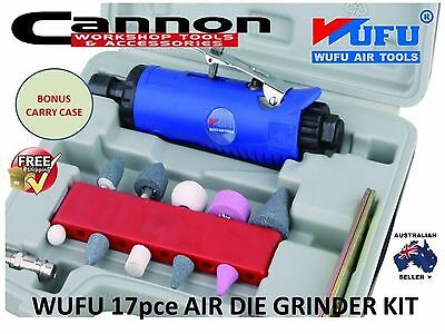 WUFU 17pcs  AIR DIE GRINDER TOOL & STONES KIT SET