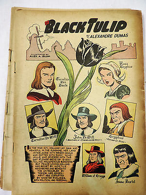 The Black Tulip Classics Illustrated Alex A Blum July 1950 Only Edition #73