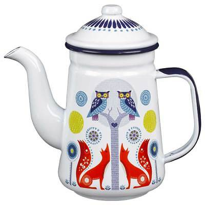 Day Enamel Coffee Pot in the Folklore Collection by Wild & Wolf