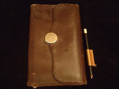 antique Victorian ladies leather wallet with diary dated 1884 kid leather