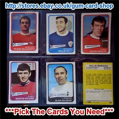 A&Bc 1968 Yellow 1St Series (G/F) Cards 1 To 54 *Pick The Cards You Need*